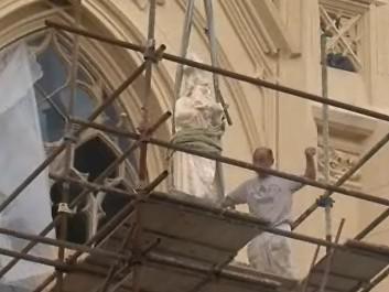 Zámeckou kapli v Lednici zdobí sochy svatých