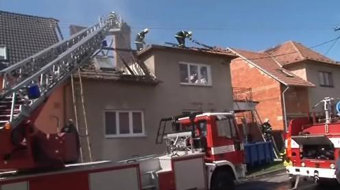 Požár domu v Ratíškovicích