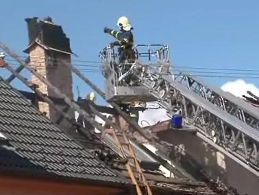 požár rodinného domu v Ratíškovicích
