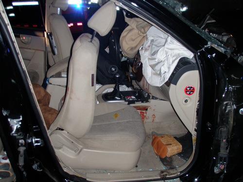 V havarovaném vozidle byli čtyři lidé
