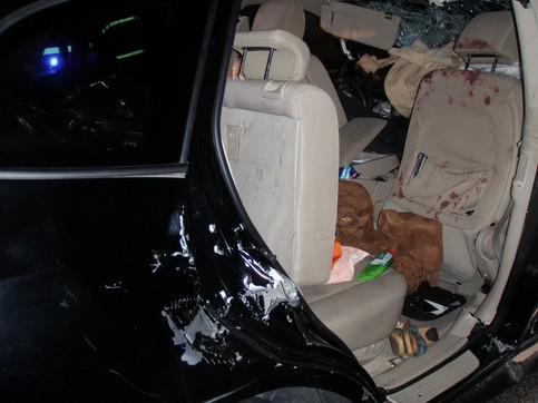 V havarovaném vozidle hasiči nenašli dětské autosedačky