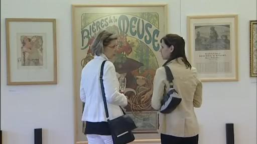 Výstava Alfonse Muchy v Holešově