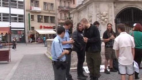 Protest proti školnému v Brně