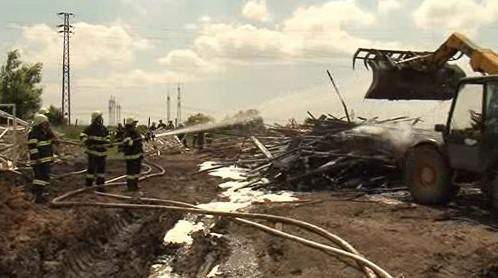 Požár v Újezdu u Brna