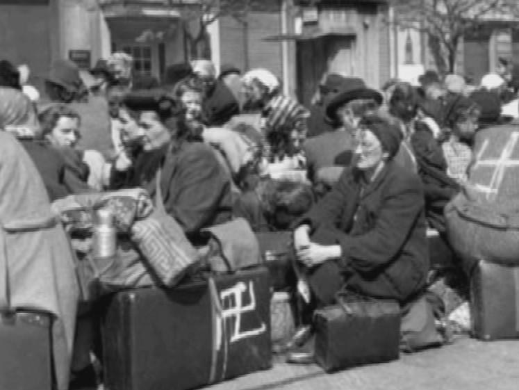 Němci připravení k odsunu, 1945, Brno