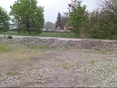 Místo plánované výstavby kruhové křižovatky