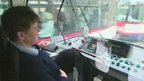 Řidička tramvaje