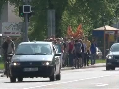 V Břeclavi protestovali proti stavbě hobbymarketu