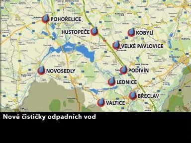 Nové čističky na Břeclavsku