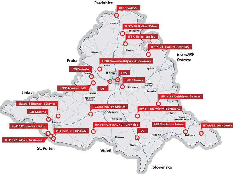 Plánované opravy silnic v kraji
