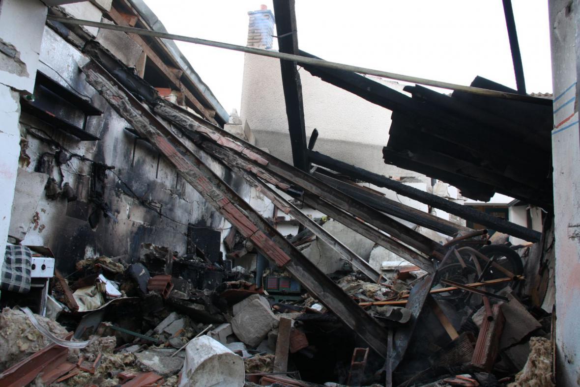 Při výbuchu garáže zahynul pětadvacetiletý muž
