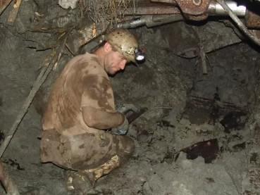 Pracovník v dole Mír