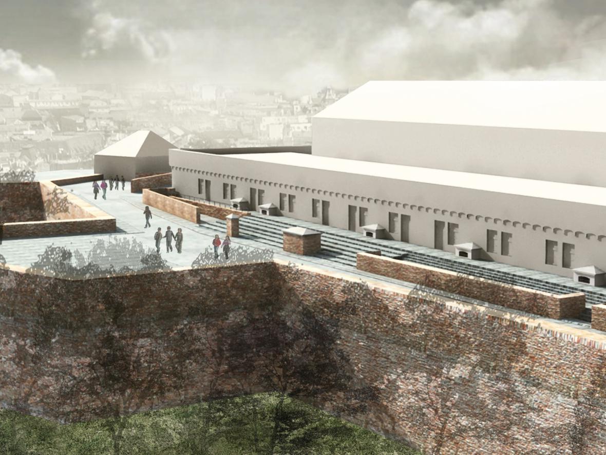 Vizualizace rekonstrukce hradu Špilberk