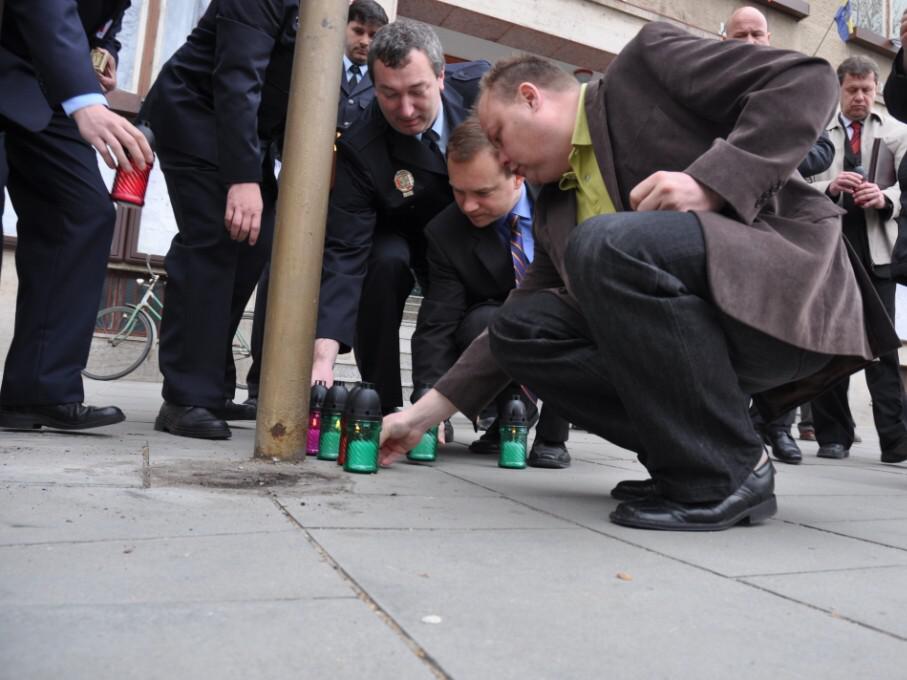 Pietní akt uctění památky polských obětí leteckého neštěstí