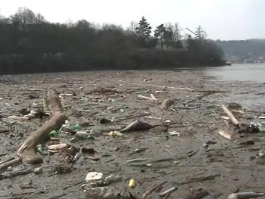 Naplaveniny v přehradě