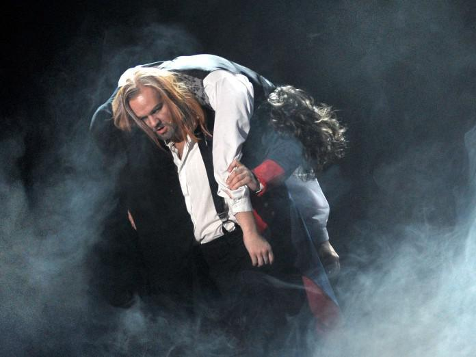 Petr Gazdík v roli Jeana Valjeana, Bídníci