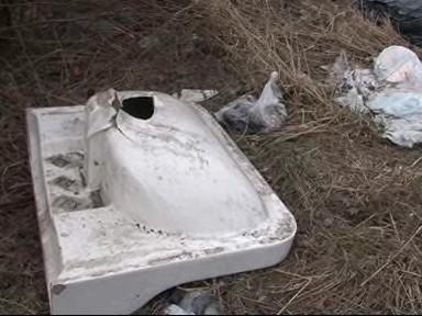 Odpad po zimě