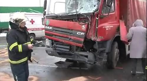 nabouraný kamion