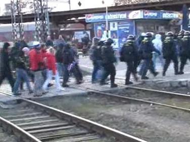 fanoušci Baníku dorazili do Brna