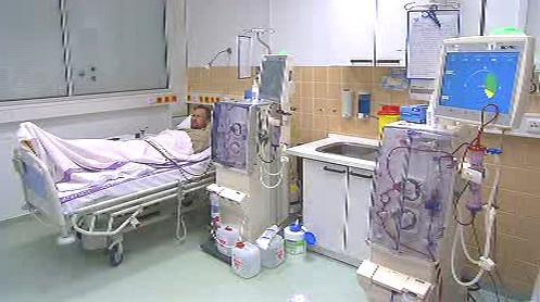 Pacient na dialyzačním oddělení