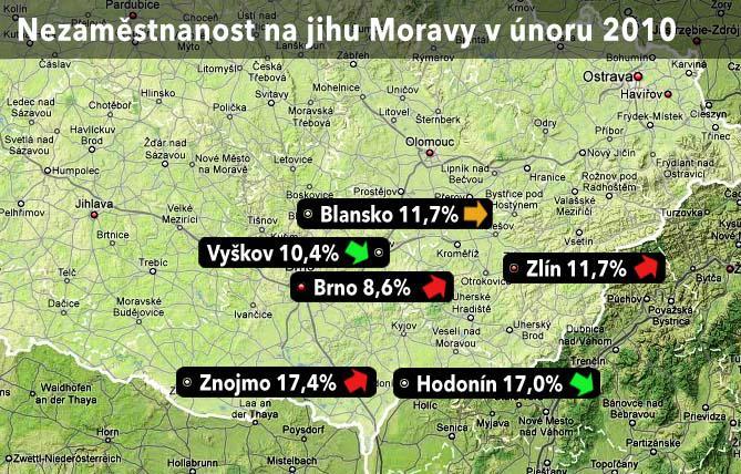 mapa- nezaměstnanost