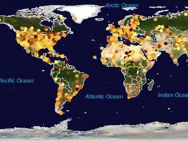 Místa s největším světelným znečištěním