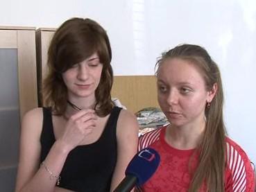 Ruské studentky na brněnském letiští