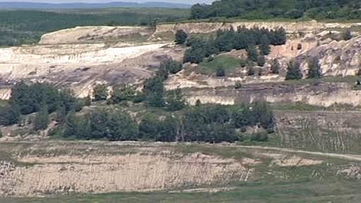Krajina po těžbě