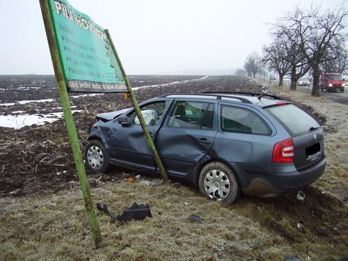 Havarovaná Škoda Octavia