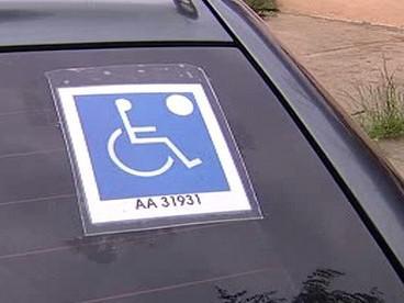 Označení vozu pro invalidy