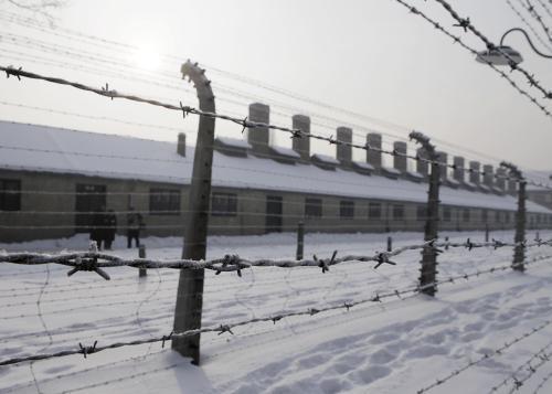 Bývalý koncentrační tábor v Osvětimi