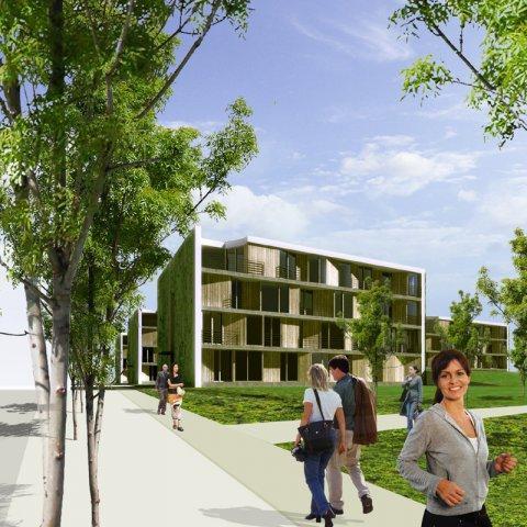 Projekt výstavby bytových domů v Hodoníně