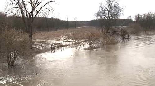 Rozvodněná řeka Morava