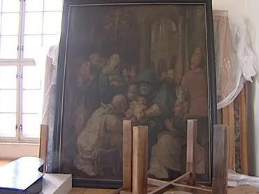 Studenti vypomůžou s restaurováním obrazu