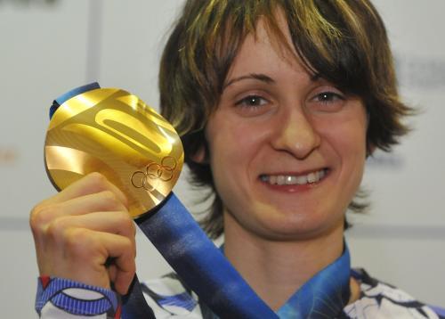 Martina Sáblíková se zlatou olympijskou medailí