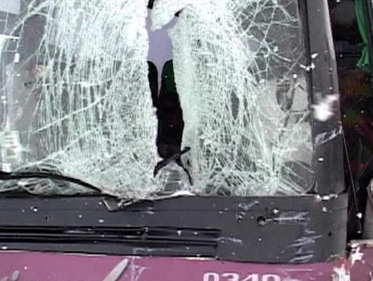 Havarovaný autobus, foto: tvnoviny.sk