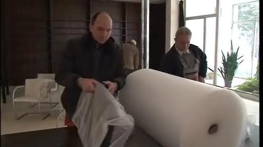 Stěhování nábytku ve vile Tugendhat