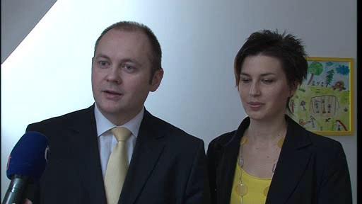 Michal Hašek se ženou