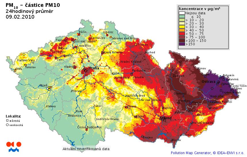 Znečištění ovzduší 9. 2. 2010
