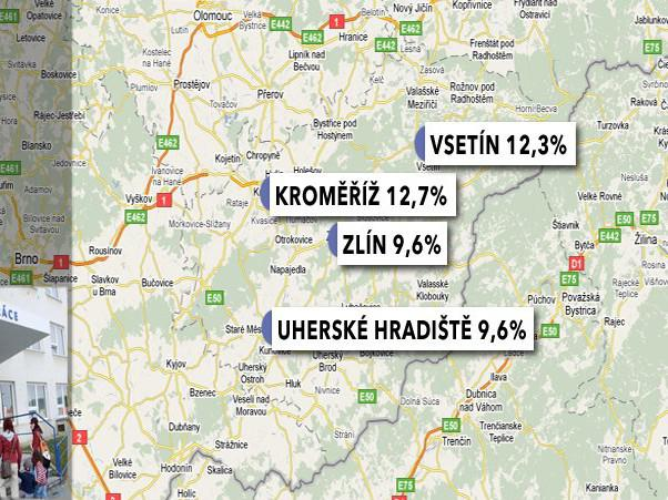 Nezaměstnanost ve Zlínském kraji v prosinci 2009