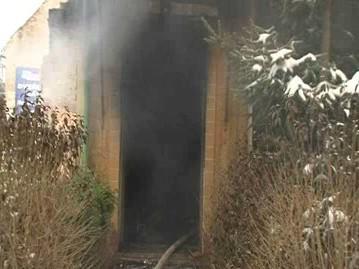 Dům v Bzenci, kde uhořel jeho majitel