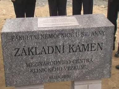Základní kámen výzkumného centra v Brně
