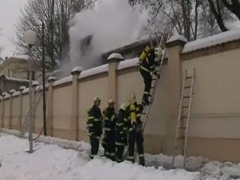 Hasiči zasahují při požáru