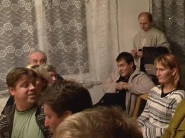 občané Šebrova na jednání zastupitelstva
