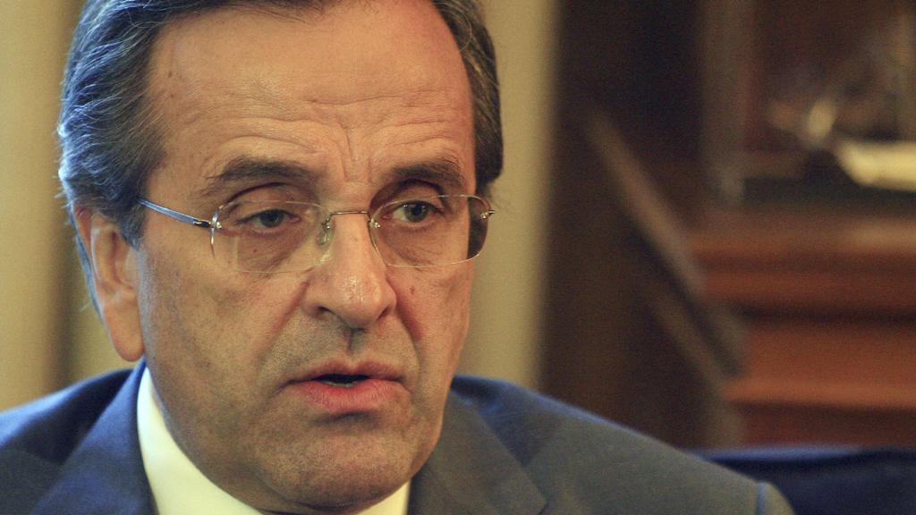 Vůdce řecké opozice Antonis Samaras