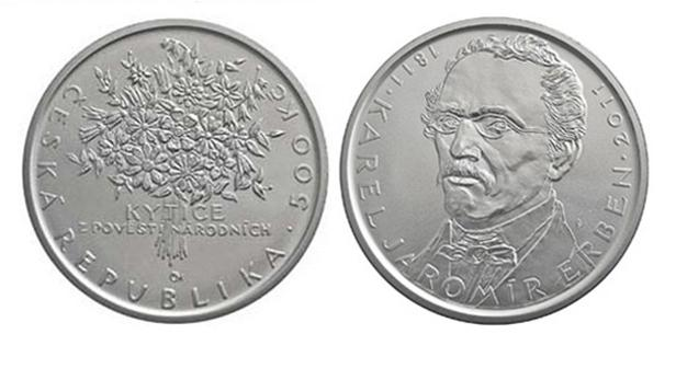 Mince ČNB k 200. výročí narození K. J. Erbena