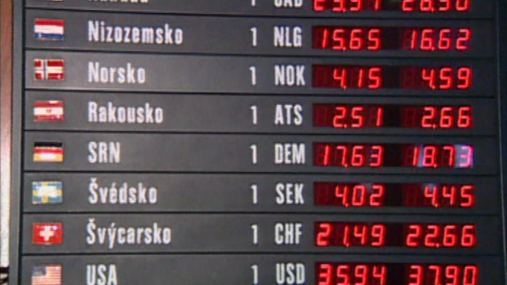 Směnárny před přijetím eura