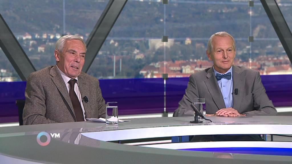 Pavel Pafko a Jan Pirk (vpravo) v Otázkách Václava Moravce