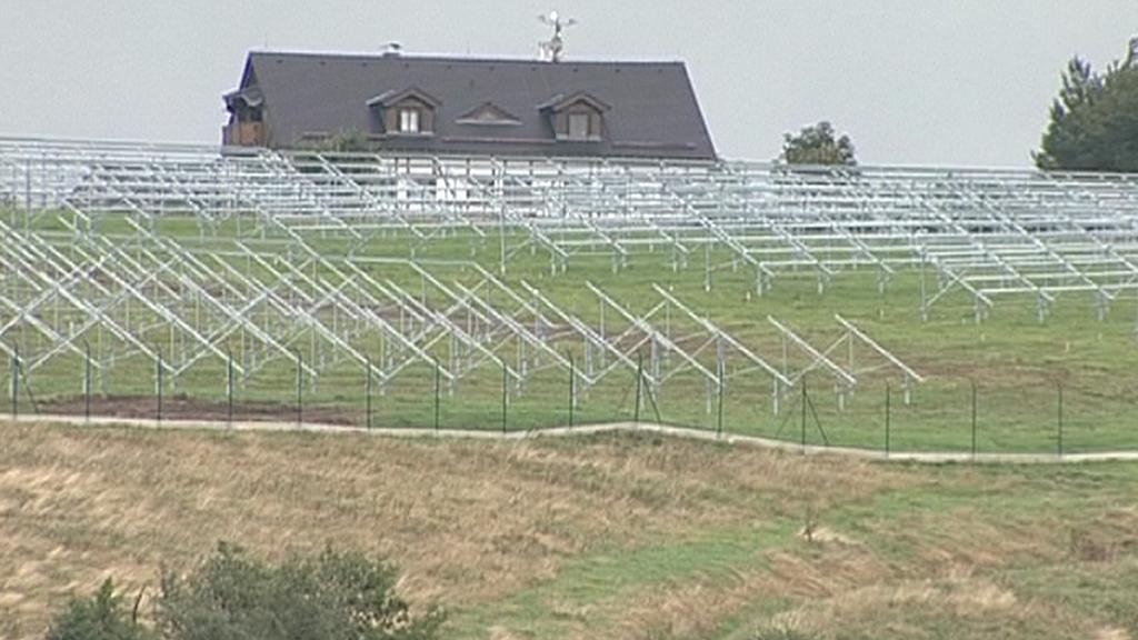 Solární elektrárna u Moldavy