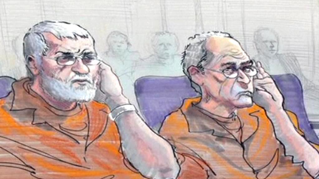 Ilustrace ze soudního slyšení obviněných důchodců